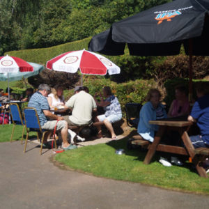Summer dining in the beer garden