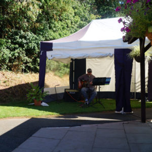 Live Music outside The Mill in Peterchurch